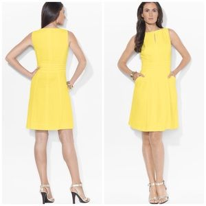 Ralph Lauren Yellow Sleeveless Full Skirt Dress